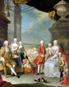 Maria Theresa and Her Family on the Terrace of Schonbrunn Palace, by Martin van Meytens, c. 1755