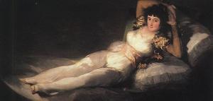 La Maja Vestida, The Clothed Woman, Goya, 1805