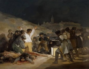 The 3rd of May, 1808, in Madrid, Goya, 1814
