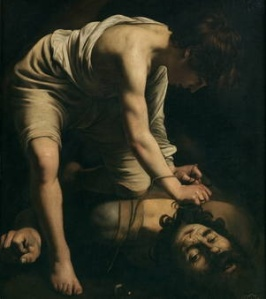 David and Goliath, Caravaggio, 1600