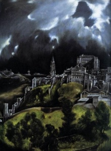 View of Toledo made iconic by the great Spanish Renaissance painter, El Greco