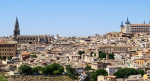 View of the walled city Toledo today