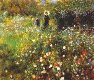 Woman with a Parasol in a Garden, Renoir, 1875