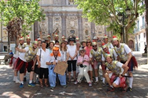In Zaragoza with a bridegroom and his Roman entourage