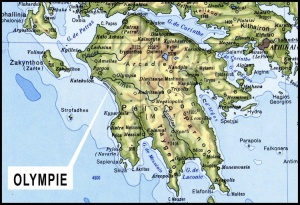 Map of the Peloponnese Peninsula