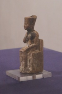 """Pharoah Khufu, reigm 2,589-2,2,56 BCE, whose only surviving statue is 3"""" tall, is thought to be the Pharoah who commissioned the Great Pyramid."""