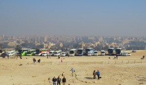 View of Cairo from the Great Pyramid